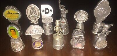 Pewter Vintage Thimble Lot Vintage Sewing Thimble Collection