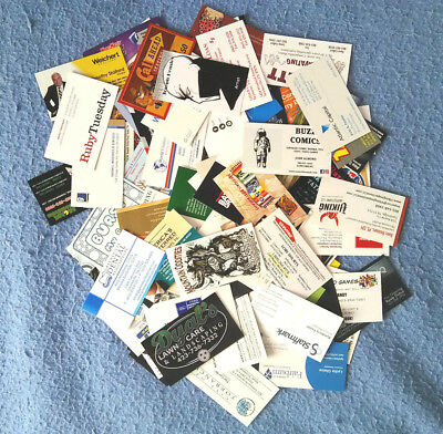 LOT of 150 + DIFFERENT BUSINESS CARDS for collection