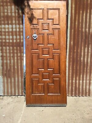 Solid Timber Carved Front Door 810w X 2040h X 40d. Door Is Plain Surface Inside