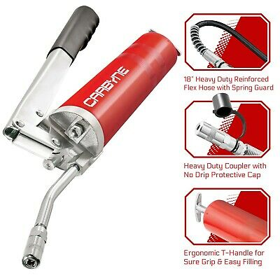 Carbyne Heavy Duty Professional Quality Lever Handle Grease Gun, 4000 PSI.