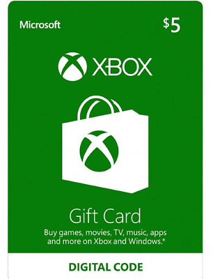 $5 USD Xbox Live Gift Card 360/One - USA