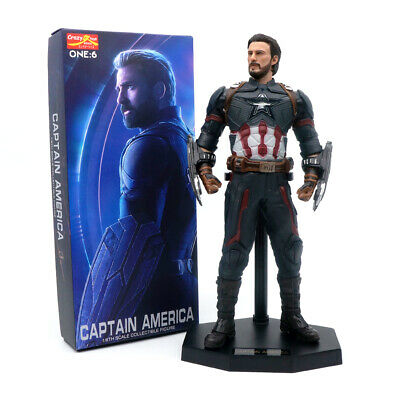 "Crazy Toys Marvel Avengers Infinity War Captain America 12"" Acton Figure Statue"