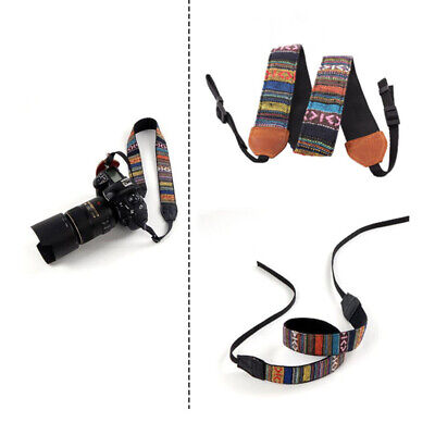 Shoulder Neck For SLR Belt Strap Canon Nikon DSLR Sony Vintage Camera Panasonic