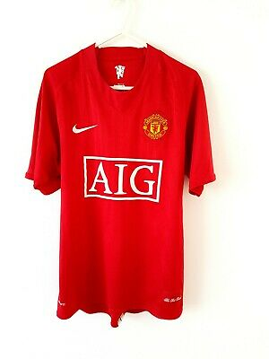 Manchester United Home Shirt 2007. Small Adults. Nike Red Man Utd Football Top S