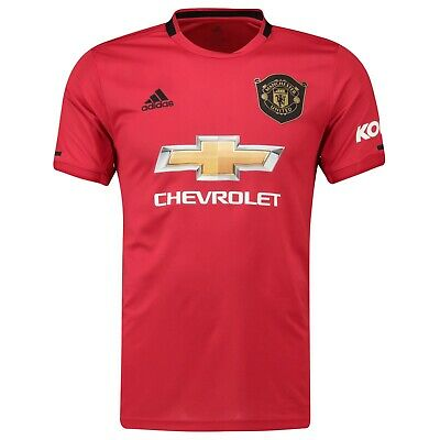 F46 Mens Large Manchester United Home Shirt 2019- 20 New PL Badge