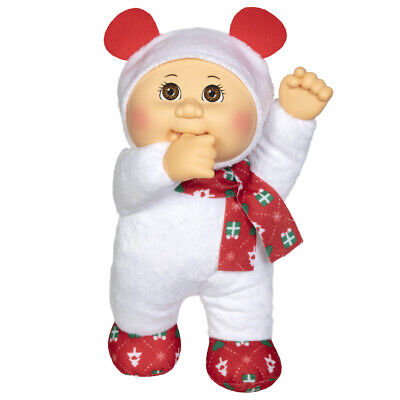 "Cabbage Patch Kids Cuties Doll: 9"" Holiday Helper - Snowflake Polar Bear"