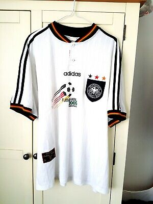 Germany Home Shirt 1996. XXL. Adidas. White Adults Short Sleeves Football Top.