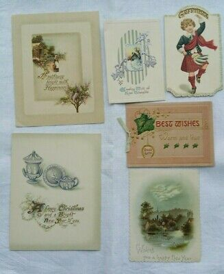 Antique New Years Cards Used