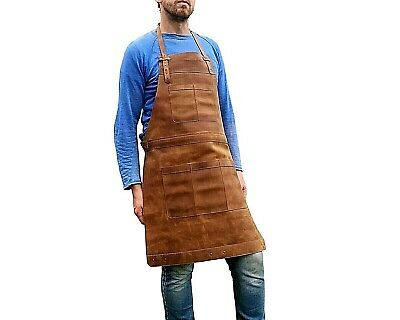 Mens Apron for Blacksmiths Artisans and Chefs Professional Leather Apron