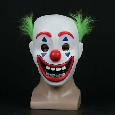2019 Cosplay DC Movie Joker Arthur Fleck Mask Clown Masquerade Halloween Mask
