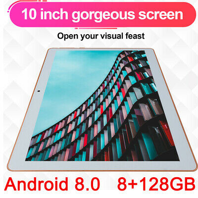KT107 10.1 Inch 4G Tablet Android 8.0 Bluetooth PC 8+128GB Dual SIM with GPS Pop