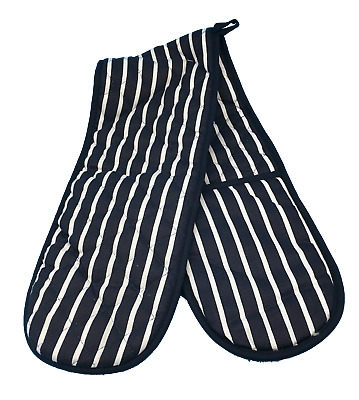 Blue/White Double Oven Gloves