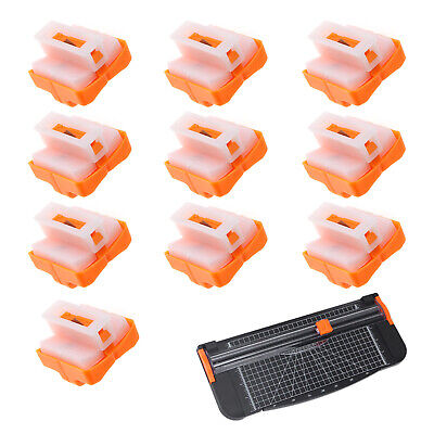 10 Pieces Paper Cutter Trimmer Replacement Blades Spare A4 Orange Cutting Tool