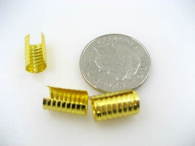 100pc 9mm*18mm Cylindrical tip ribbed return Cord End cap wrap Tip fold over tip