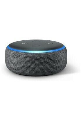 Amazon Echo Dot (3rd Generation) Charcoal  Black Smart Speaker with Alexa New