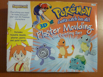 Pokemon Supercast 3D Plaster Moulding and Painting Set. Unused.
