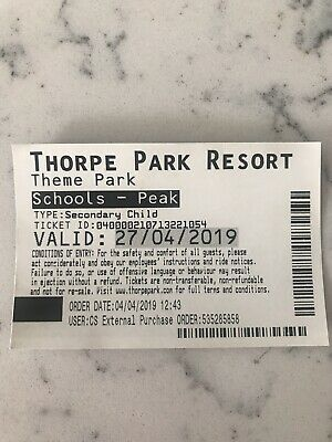 Thorpe Park Ticket September See Description