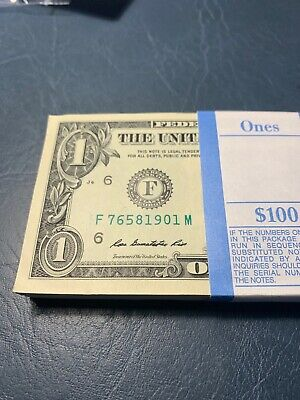 ONE PACK 100 $1 Dollar Bills Brand New US Currency
