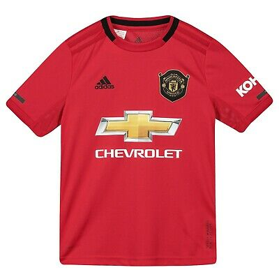 F35 Kids 11-12yrs Manchester United Home Shirt 2019-20 FREE Badges