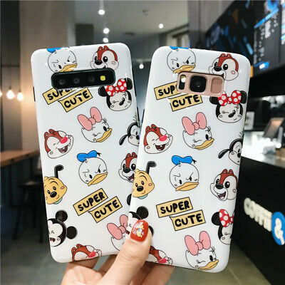 For Samsung Galaxy S10 Plus Note 8 9 Cartoon Disney Mickey mouse Soft Case Cover