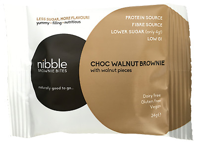 Nibble Protein Bites Choc Walnut Brownie (Pack of 24)