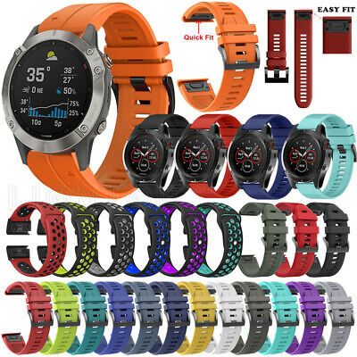 New For Garmin Fenix 6 / 6X 6X Pro Solar Soft Silicone Quick Easy Fit Watch Band