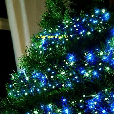 720 White Blue Led Cluster Lights Indoor Outdoor Christmas