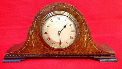 Antique Russells Liverpool, Amboyna Veneered Wind Up Clock, Napoleon Hat, Inlaid