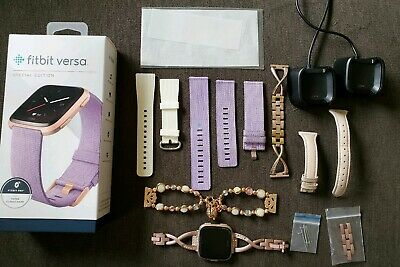 Fitbit - Versa Special Edition - Lavender Rose Gold Used *Must Read Description!