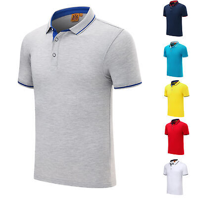 Mens Shirts Short Sleeve Shirt Casual Formal Classic Fit Baseball Polo Top S-4XL