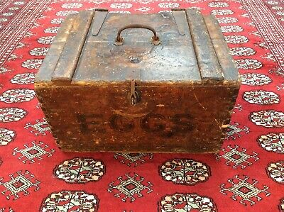 Antique Scots Egg Packing Crate Box Victorian/Edwardian Transport Large Kitchen