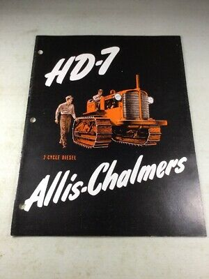 CARCO WINCH MODEL E-30-SG Brochure for Allis Chalmers HD-6