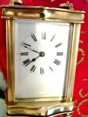 Antique  French Clock By Couillet Freres 1890S With.swiss 11Jewel Platform