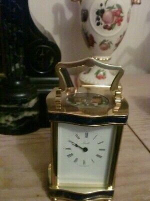 Vintage  Minted Carriage Clock Hand Built By Henley Clocks England