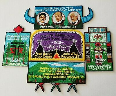 2019 World Scout Jamboree First Scout Camps set of 5 patches  Boy Scout