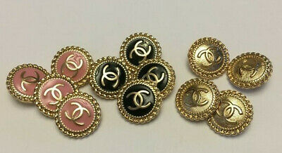 Chanel buttons, lot of 12 small size buttons