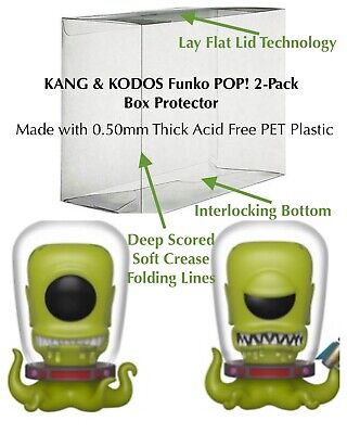 1 KANG & KODOS Funko Pop! 2-Pack Vinyl 0.50mm Box Protector Acid Free Clear Case