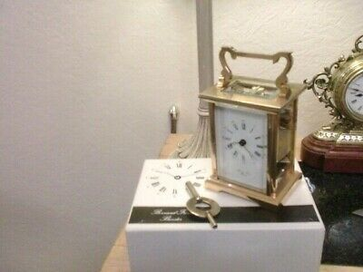 Minted English Carriage Clock By Bornand Freres Key And Box