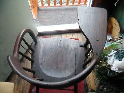 Vintage Child's Wooden School Chair with Connected Desk