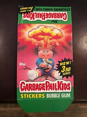 1980's Topps GPK Garbage Pail Kids 3rd Series 3 Empty Display Box CLEAN No Wax