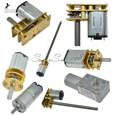 DC3/6/12V Micro Electric Motor Torque Turbo Worm Speed Reduction Gear     100RPM