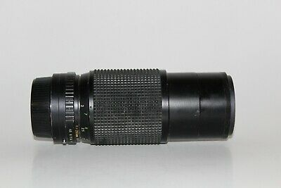 Techmatic V Auto Zoom 1:4.5 80-205mm Vintage Lens  with Hood untested