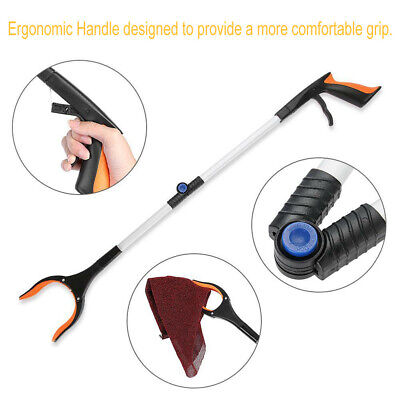 Foldable Garbage Pick Up Tool Grabber Reacher Stick Reaching Grab Claw Grip TU