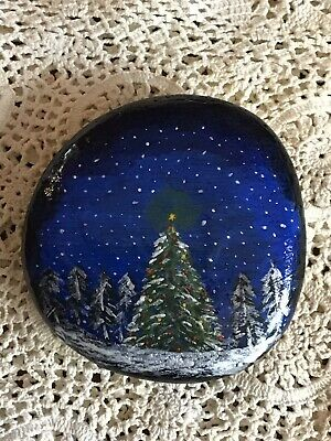 Personalised Hand Painted Christmas Rock