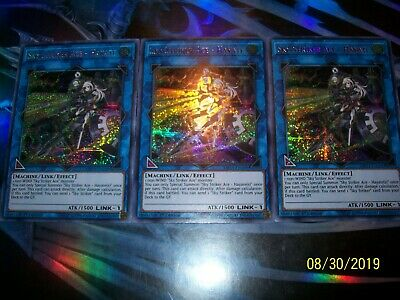 3x Sky Striker Ace - Hayate 1st Edition Prismatic Secret Rare MP19-EN109