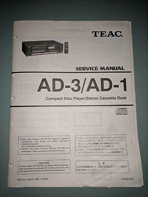 TEAC SERVICE MANUALS, Lot of 25+, 13 Compact Disc Players