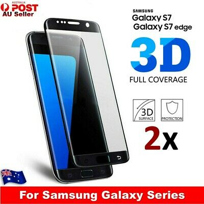 2x For Samsung Galaxy S7/S7edge Screen Protector Full Coverage 9H Tempered Glass