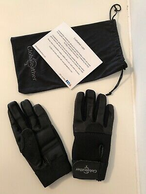 Globaleather SureGrip Full Finger Leather Wheelchair Gloves - Size Small - New