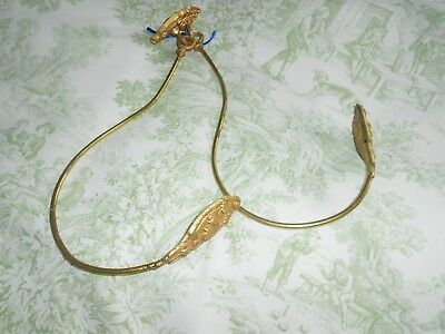 Pair of Antique French Gilt Brass Curtain Tie Backs / Hooks Articulated