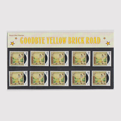 2019 Music Giants - Elton John Pack of 10 Yellow Brick Road Stamps